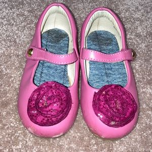 Pediped size 7 pink maryjanes